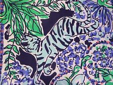 New Lilly Pulitzer MARION TOP SILK XS/S Bright Navy Escape Artist Botanical NWT
