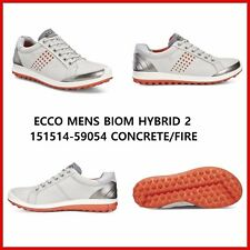 New Ecco Mens Golf Shoes BIOM Hybrid 2 Grey Spikeless EU 39  EU 42  $200