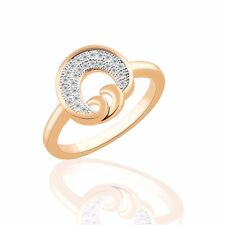 Promise wedding jewelry 18K gold filled Swarovski crystal lady rings Sz6-Sz9