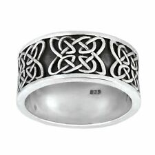 Silverly .925 Sterling Silver Chunky Celtic Knot Symbol Ring