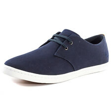 Fred Perry Byron Low Twill Trainers Mens Cotton Navy New Shoes