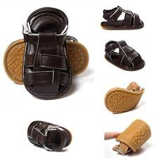 Lovely Baby Boy Toddler Soft Sole Prewalker Sandals Kids Casual PU Sandals Shoes