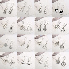 80s 90s Retro Fashion Charms Tibetan Silver Drop Dangle Earrings hook Jewelry
