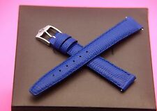 New Gucci 14 MM Lizard Pattern Watch Band - Royal Blue -  Genuine Leather