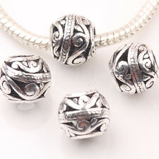 10/20Pcs Tibetan Silver Round Loose Spacer Charms Beads Accessory 10mm DIY