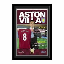 Personalised Aston Villa Football Club Manager with Shirt Magazine Cover Photo