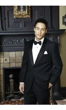 Seville Black Shawl One Button Side Vented Modern Fit Tuxedo