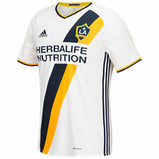 adidas LA Galaxy MLS 2016 Soccer Home Jersey White / Navy Blue / Yellow