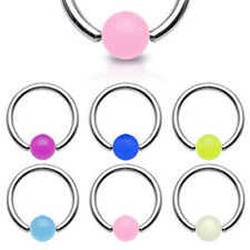 14G Glow in the Dark Acrylic Ball Captive Bead Ring