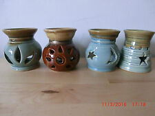 Small ceramic oil burners for use with oil simmering granules or wax melts