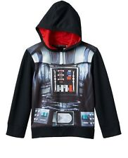 STAR WARS DARTH VADER  LITTLE BOYS COSTUME CHARACTER HOODIE SWEATSHIRT NEW
