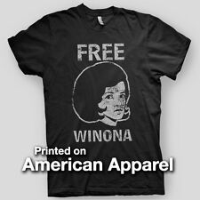 FREE WINONA Ryder VINTAGE LOOK brooklyn Hip NYC AMERICAN APPAREL T-Shirt