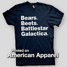 BEARS BEETS BATTLESTAR Office Dwight Schrute Dunder AMERICAN APPAREL T-Shirt