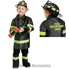 CK636 Fire Chief Fighter Fireman Toddler Kids Boy Book Week Fancy Dress Costume