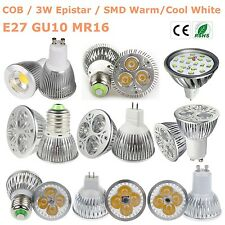GU10 MR16 E27 15W/12W/9W/7W/5W/3W LED Light Bulb Lamp CREE/COB/Epistar  LUX