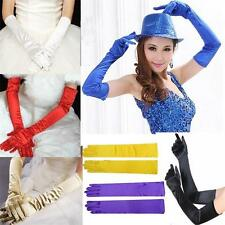 Hot Long Gloves Satin Opera Wedding Bridal Evening Party Prom Costume Gloves H7