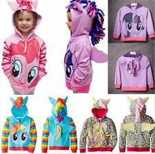 Girls Kids Toddler Hoodie My Little Pony Wing Cute Sweatshirt Coat Zip Jacket**