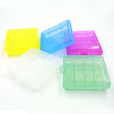 5/10X Precision Plastic Translucent Case Holder Storage Box for AA AAA Battery**