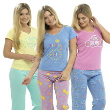 Ladies Cotton Jersey Pyjamas n  Short Sleeve T Shirt ,Full Length Bottoms Pants