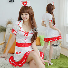Sexy Women's Nurse Doctor Uniform Costume Lingerie Cosplay Fancy Dress Outfits