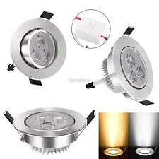 9W Dimmable LED Ceiling Recessed Down light Fixture Lamp Light & Driver 85-265V