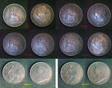 Queen Victoria Young & Veiled Head Farthing 1860 - 1901 Choose your coin