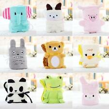 Cute Cartoon Animal Air-condition Blanket Collapsible Plush Blanket Gift WLSG