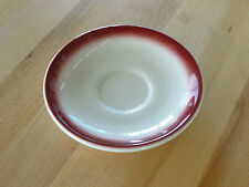 "Buffalo China 4-7/8"" Saucer, Spray Mist Maroon - F1500109505 - (Each)"