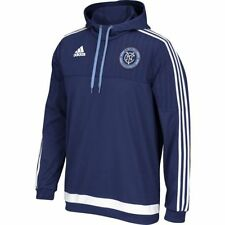 adidas New York City FC MLS 2014 - 2015 Soccer Travel Hooded Top New Navy Blue