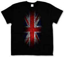 T-SHIRT VINTAGE UK UNION JACK Flag - England Great Britain FLAG Royal Mod S-3XL
