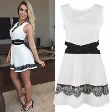 Sexy Women Summer Casual Sleeveless Evening Party Cocktail Club Short Mini Dress