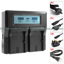 LCD Dual Battery Charger For Canon LP-E6 LC-E6E 5D Mark II III 5Ds 70D 60D 7D 6D