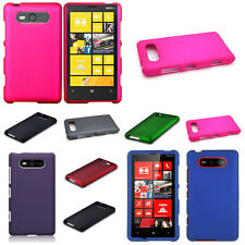 For Nokia Lumia 820 Hard Case - Colorful Lightweight Rubberized Plastic Cover