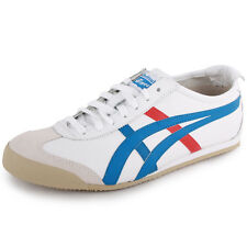 Asics Onitsuka Tiger Mexico 66 Unisex Leather White Blue 2 cm New Shoes