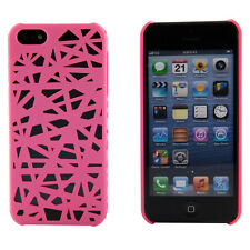 Hot Pink Smoke Snap On Hollow Birds Nest Case Cover Shield Shell Apple iPhone 5