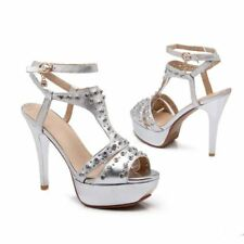 New Womens Stilettos High Heels Pumps Ankle Strap Platform Sandals Pumps Shoes