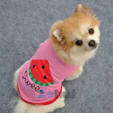 Summer Breathable Pet Clothes Puppy Vest Small Dog Letters Watermelon T-shirt