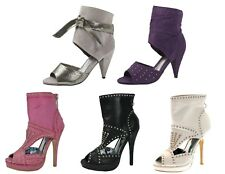 Womens High Heels Ankle Cuff Sandals Party Ladies Evening Open Toe Stiletto Size