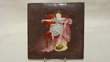 Antique Hand Painted Porcelain Tile Young Girl - Joseph Wright , Derby ? 18th C