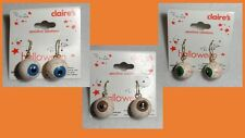 Claire's Boutique Halloween Creepy Eyeball Earrings Sensitive Solutions NEW