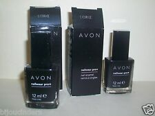 NEW Avon Nailwear Pro+ Nail Enamel Black LICORICE 2 X 12ml THATS 2 BOTTLES