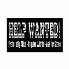 Funny Help Wanted! Positions Interviews Custom Car Door Magnet Sign-QTY 2