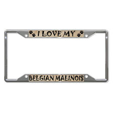 BELGIAN MALINOIS Dog License Plate Frame Tag Holder Four Holes