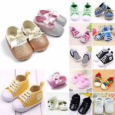 Baby Boys Girls Soft Sole Pre Walker Crib Shoes Sneaker Newborn Boots Moccasin