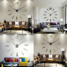 Hot Modern Large Multi-Colors Wall Clock 3D Mirror Living Room Decoration Home
