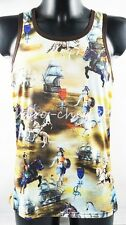 Yellow Pattern New Knight Horse Tank Top Sleeveless TOMMY DOOYAO Shirt Men Vests