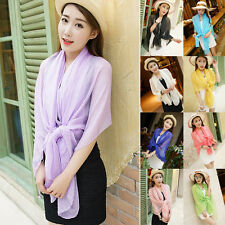 Women Long Scarves Neck Shawl Scarf Chiffon Stole Soft Beach Bikini Cover Wrap