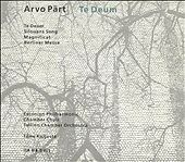 "Arvo P""art: Te Deum CD 1993, ECM Estonian Philharmonic MINTY"