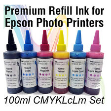 6 x 100ml Premium Quality Dye Based Ink Bottle Refills for Epson Photo Printers