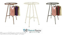 """Planet Racks Boutique Clothing Store 36"""" Round Garment Display - 3 Colors"""